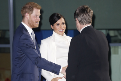 Meghan Markle Shows off Growing Baby Bump at Gala Event