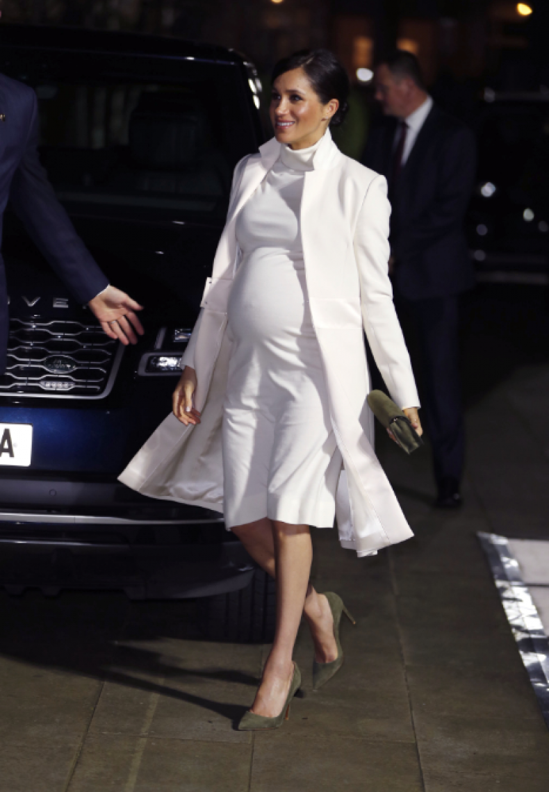 Meghan Markle Shows Off Growing Baby Bump