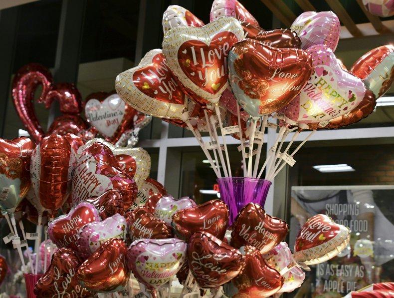 v day balloons
