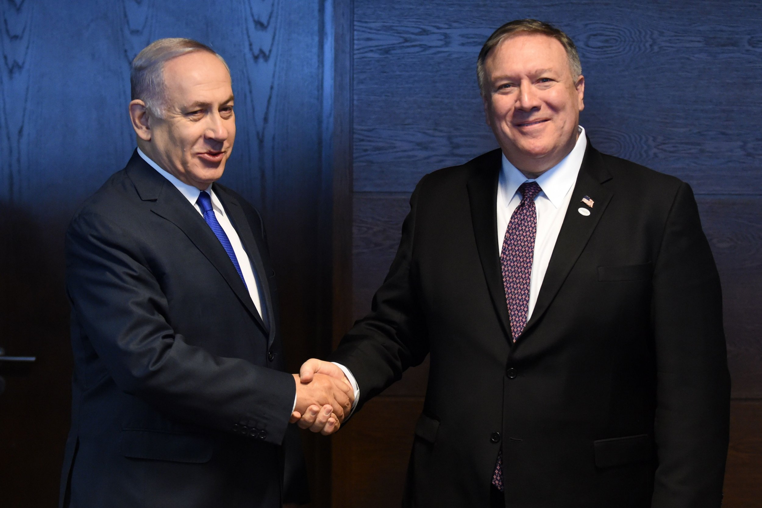 Mike Pompeo Bejnamin Netanyahu Iran Middle East peace