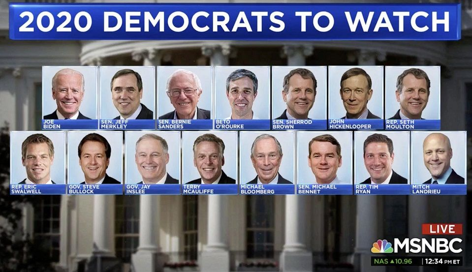Msnbc Mocked For All White Male Graphic Of Potential 2020