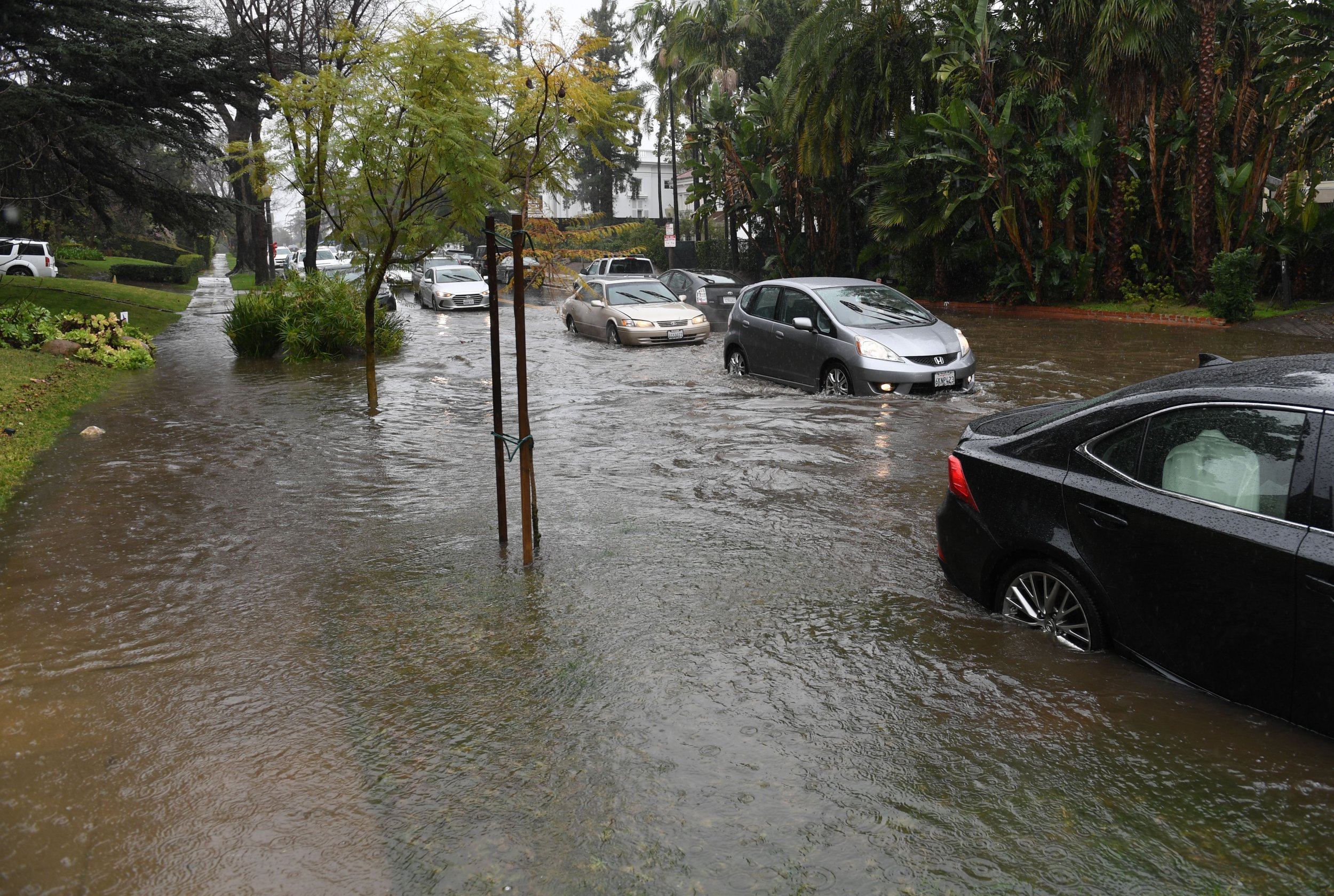la flooding atmospheric river rain