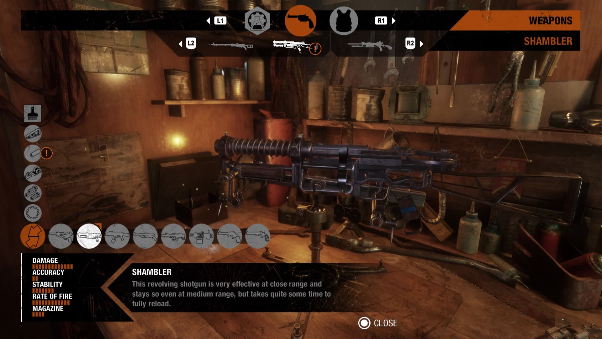 metro-exodus-weapons-list-shambler-customization-guide