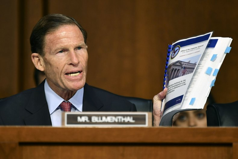 Blumenthal, Judiciary Committee, McCabe, testify