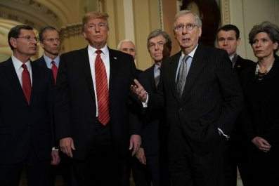 Mitch McConell and Donald Trump