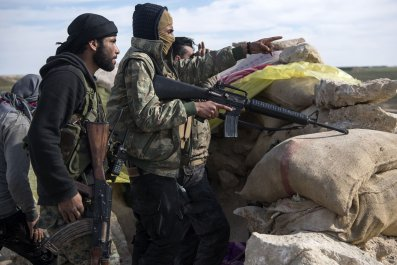 SDF fighters Syria ISIS Donald Trump withdrawal