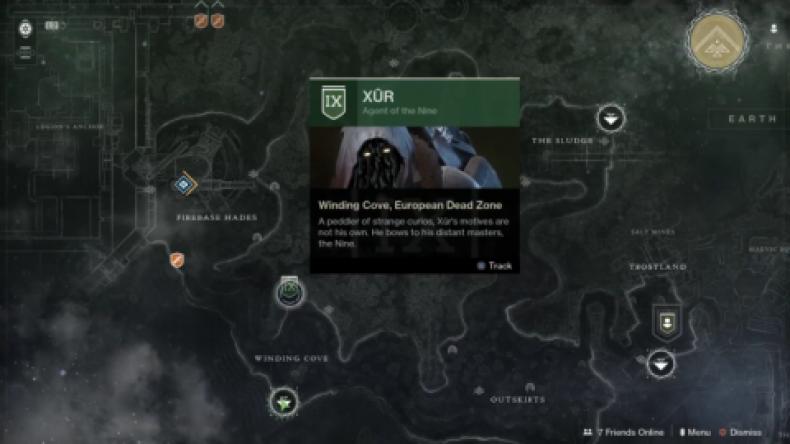 Destiny 2 Xur location 2-15