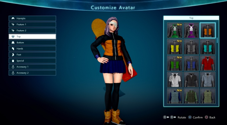 jump force character customization