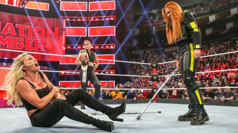 becky lynch beats charlotte flair ronda rousey elimination chamber raw live results