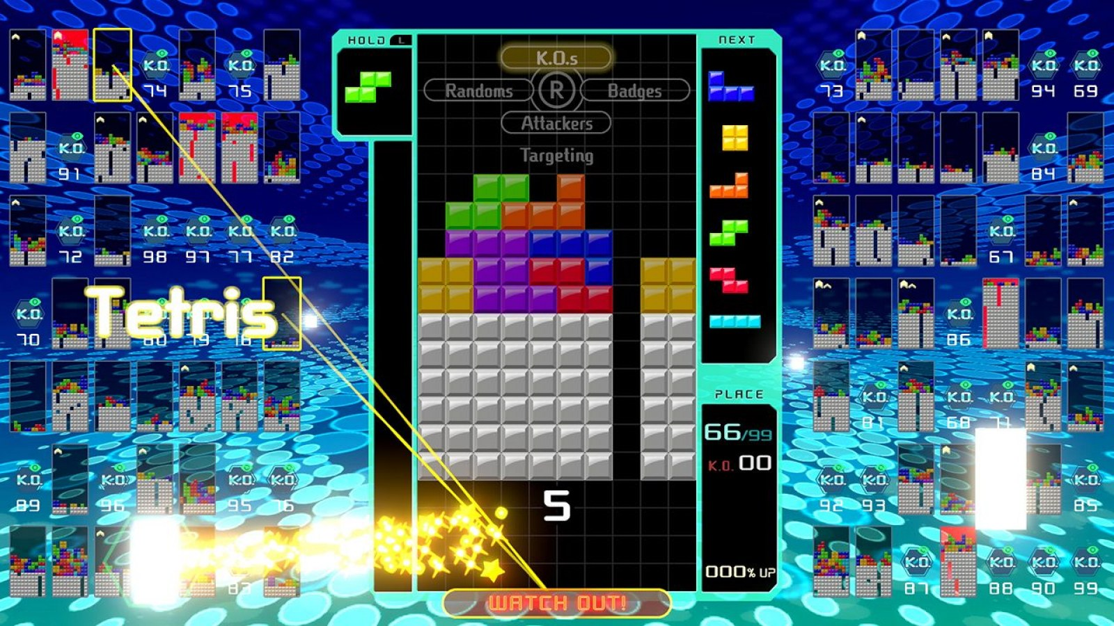 Tetris 99' How to Play: Rules, Switch Controls, Badges and Tips for