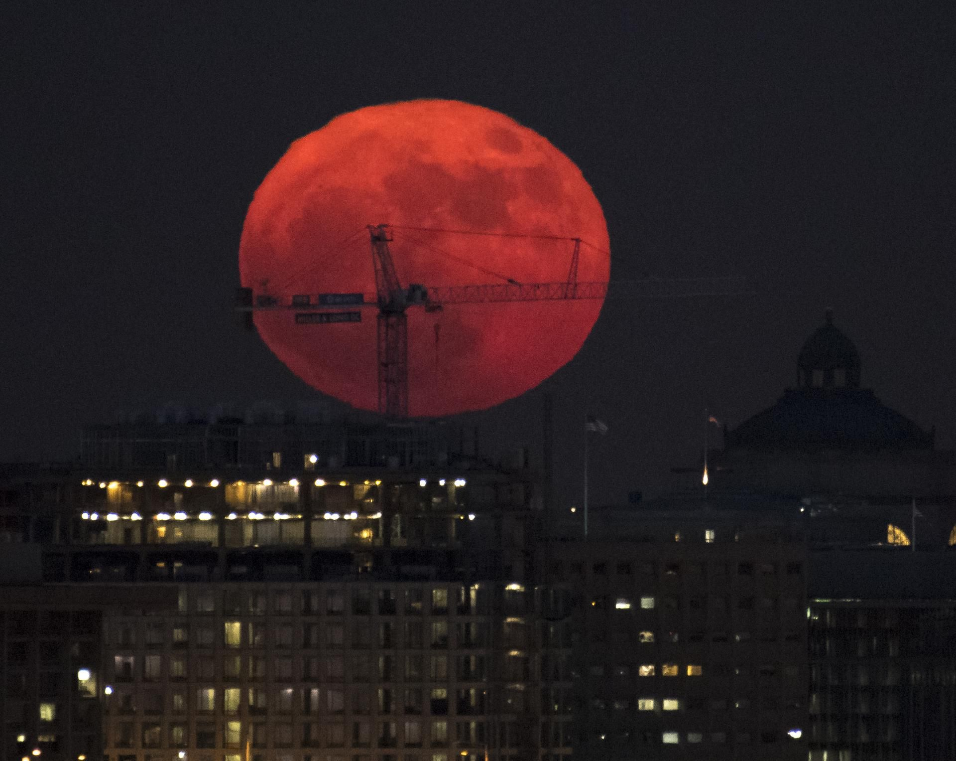 supermoon rising over dc