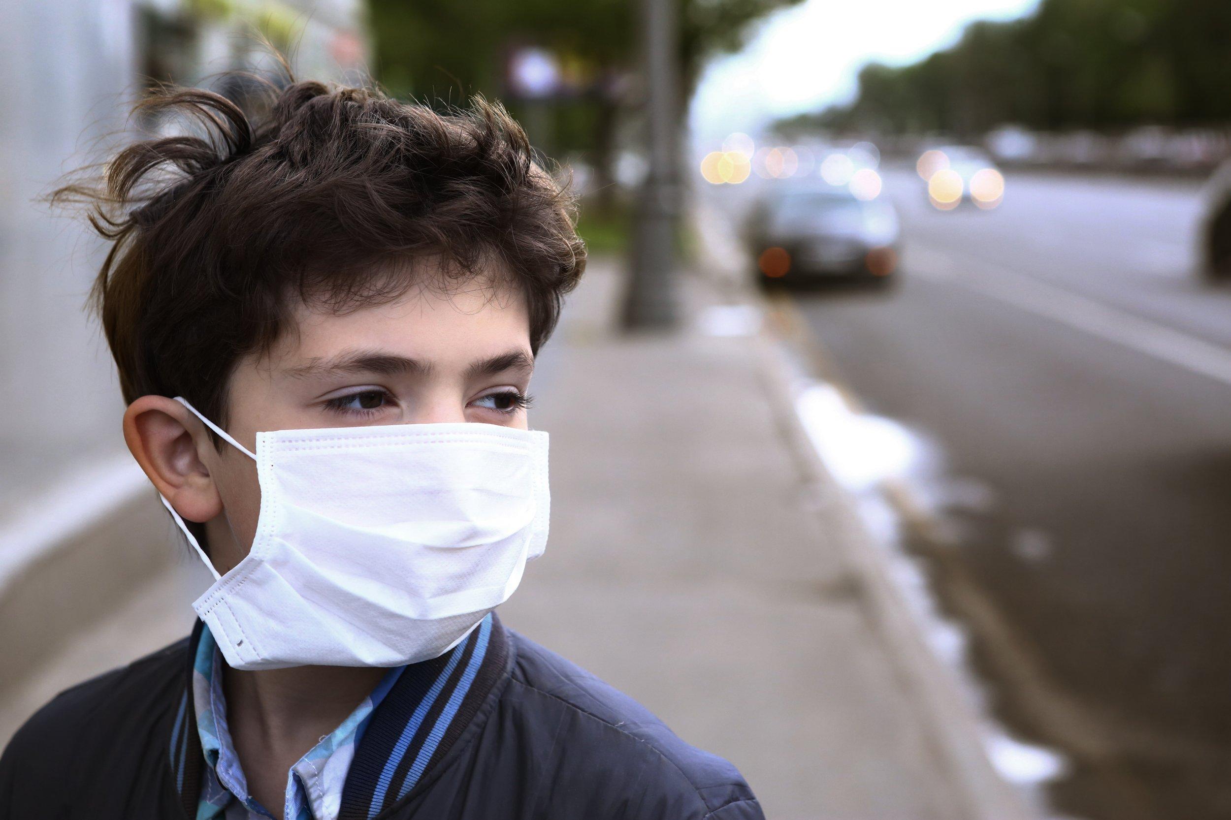 air pollution child boy stock getty