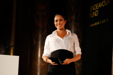 Pictures of Pregnant Meghan Markle at NYC Baby Shower