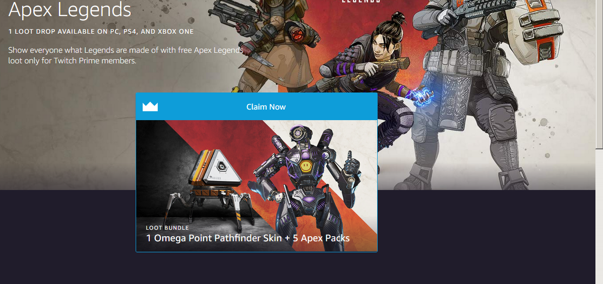 Apex Legends' Twitch Prime Loot Guide - How to Claim Loot