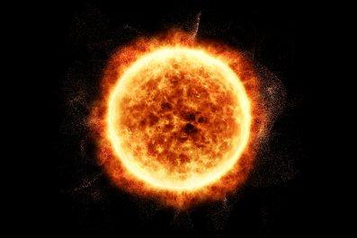 Sun solar corona