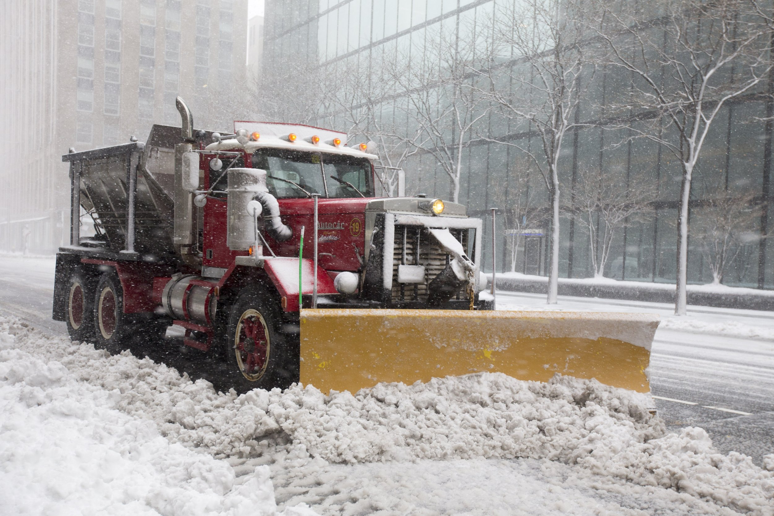snow plow in boston