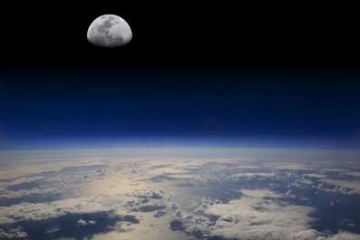 Earth from space Moon