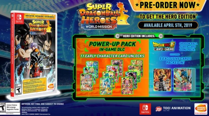 super dragon ball heroes world mission hero edition box