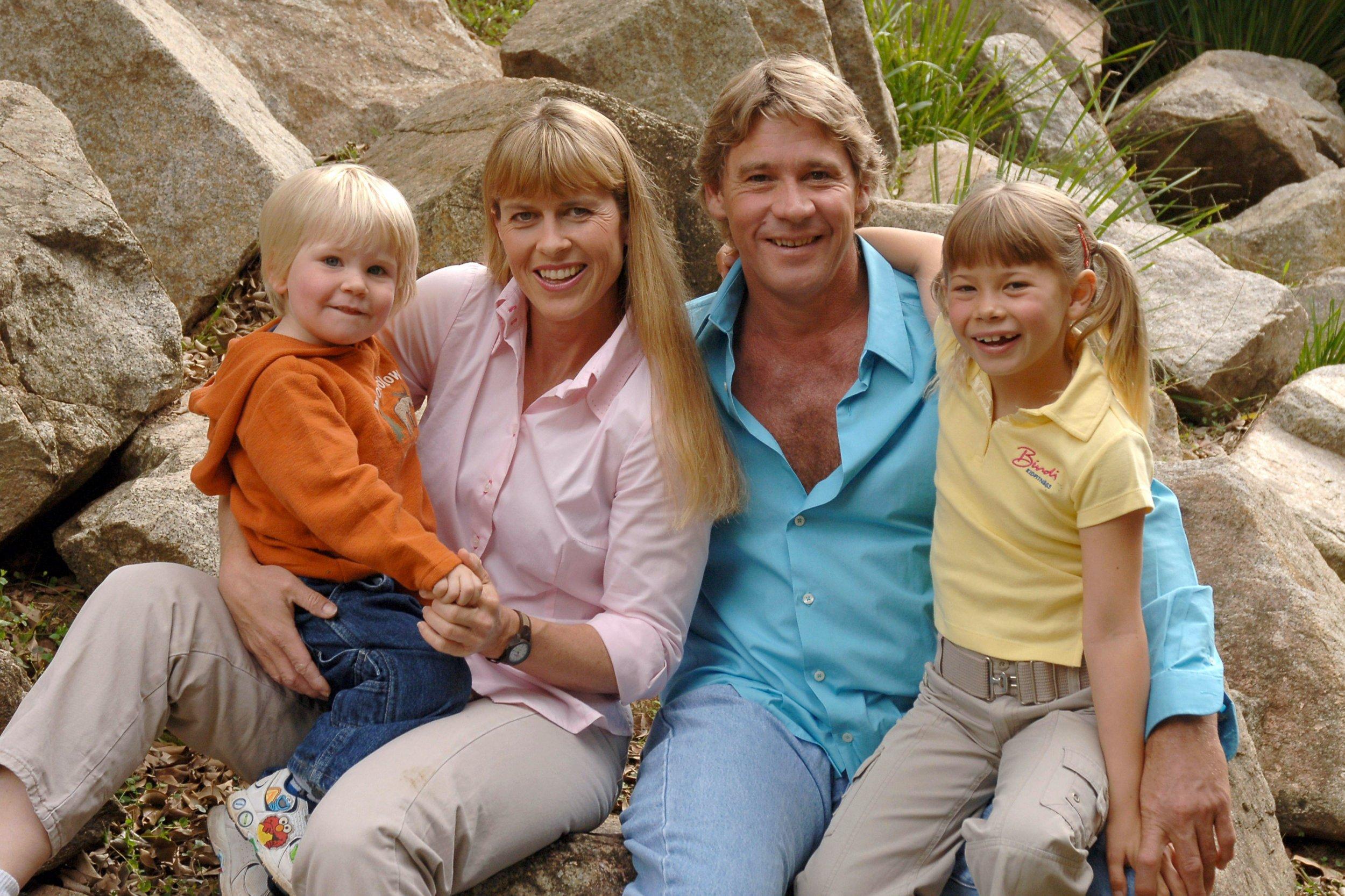 crocodile hunter with his family