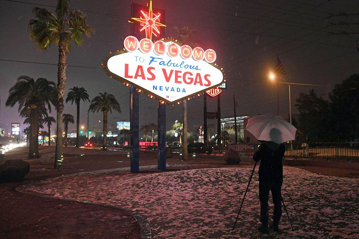 Hell hasn't frozen over, but it is snowing in Las Vegas