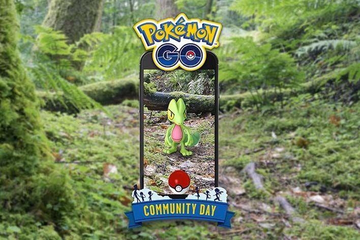 pokemon go community day shiny treecko march start time