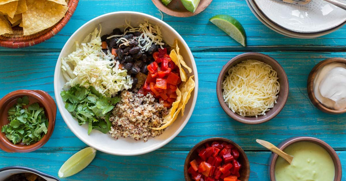 Sun Basket Black Bean Burrito Bowls with Avocado Crema