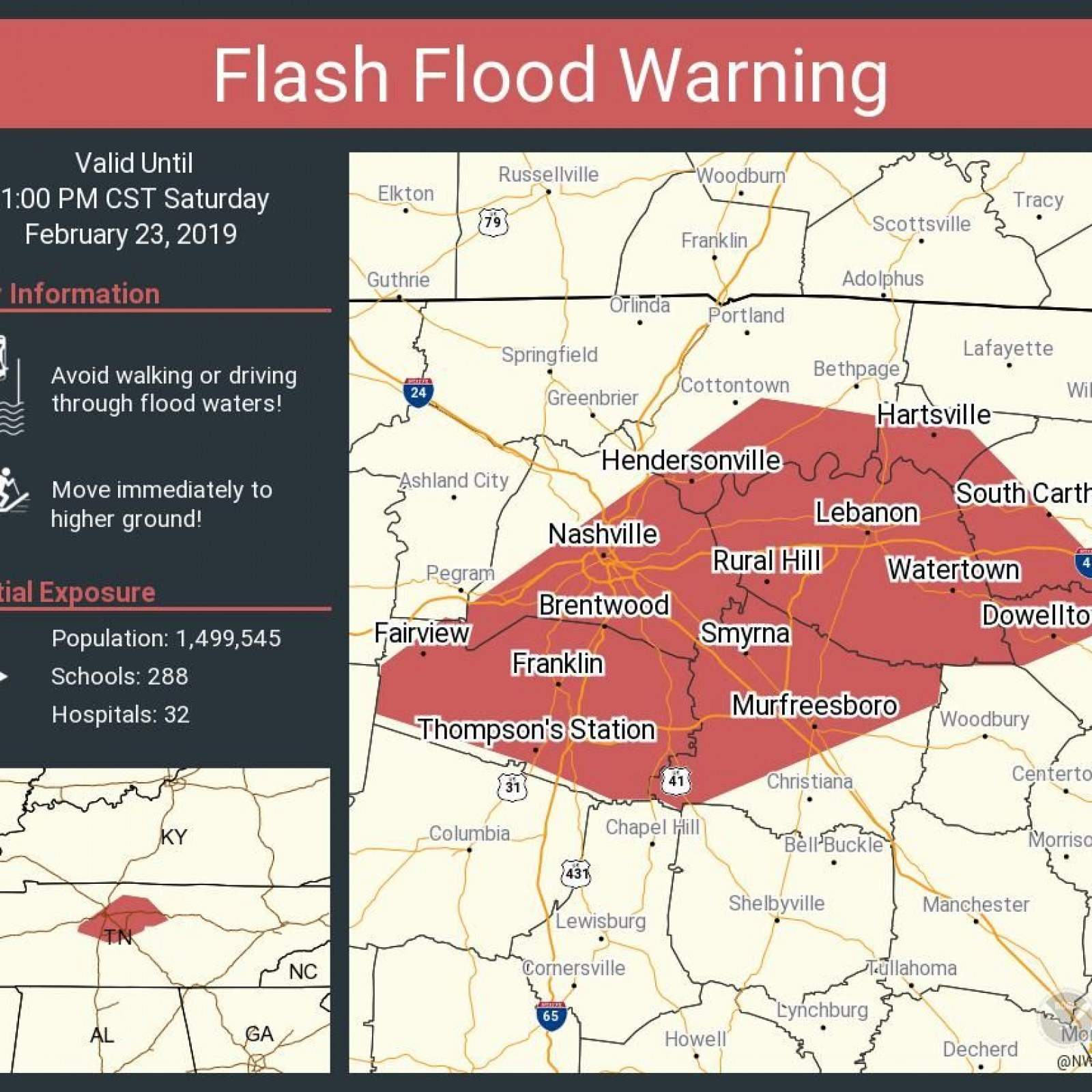 Tennessee Flooding: Flood Map, Photos and Warnings