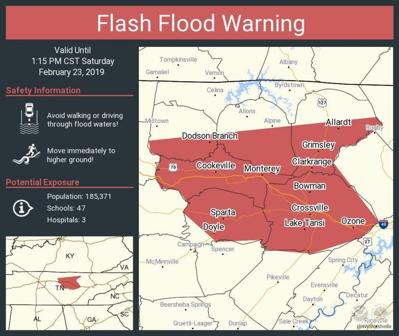 Tennessee Flooding Maps