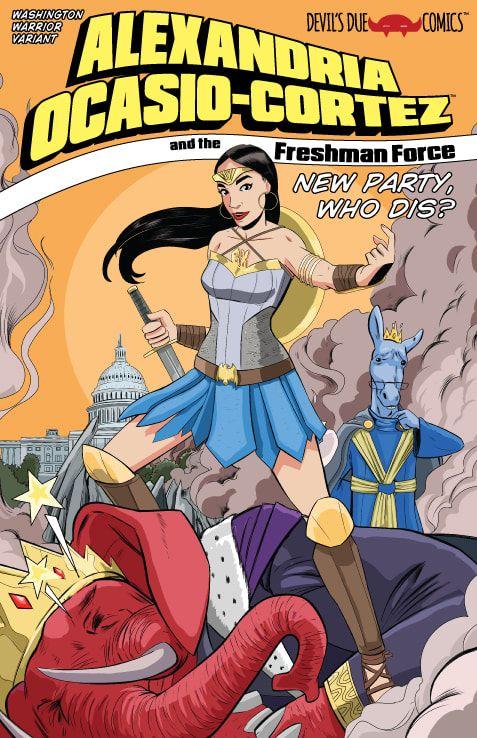 Alexandria Ocasio-Cortez comic