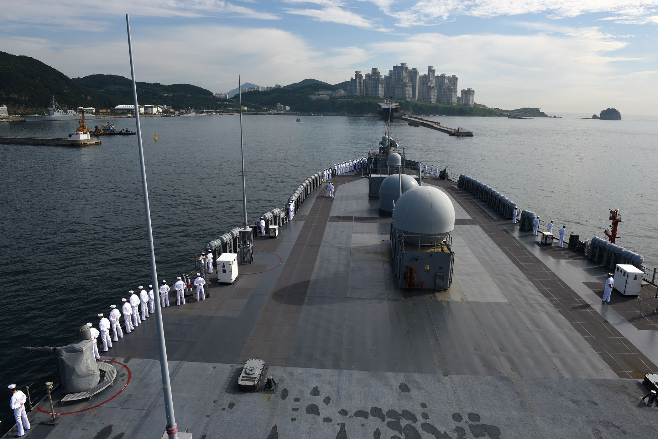USS Blue Ridge, Navy, South Korea, Busan