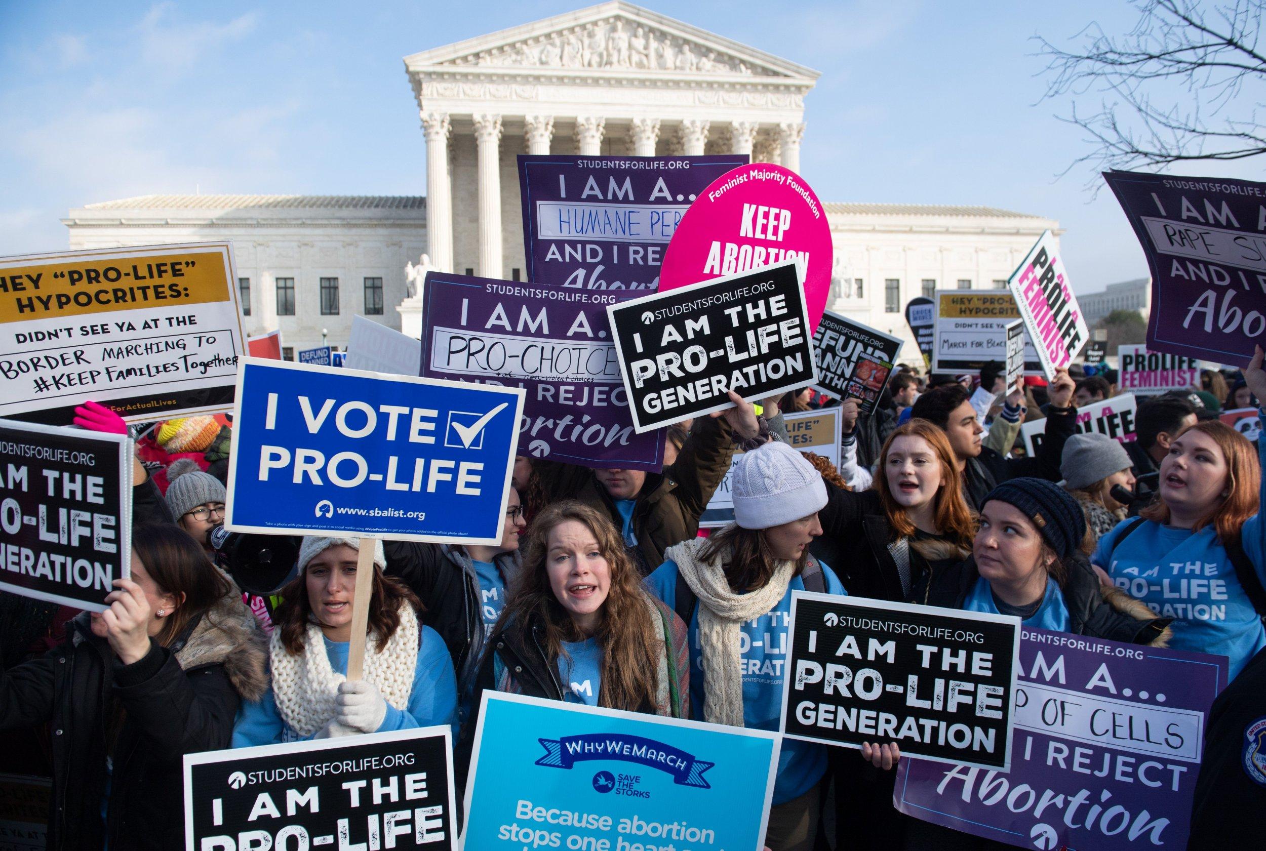 poll finds same split pro choice anti abortion