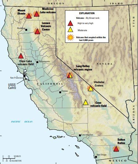 california volcanoes