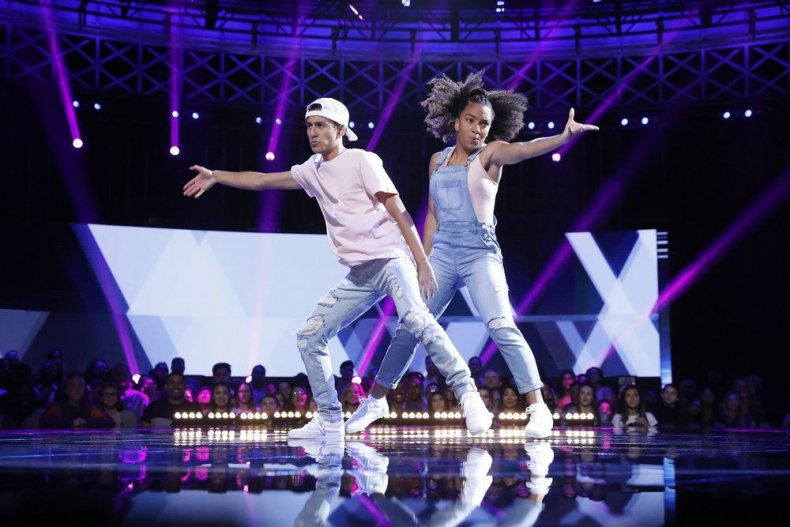 """WORLD OF DANCE -- """"Qualifiers"""" Season 3,  Episode 1 recap results Pictured: Julian & Charlize  dancers who made it through"""