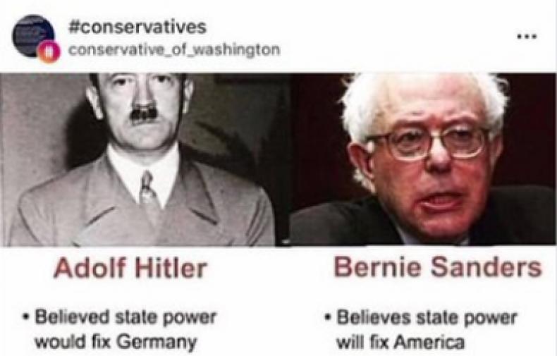 bernie sanders adolf hitler republican
