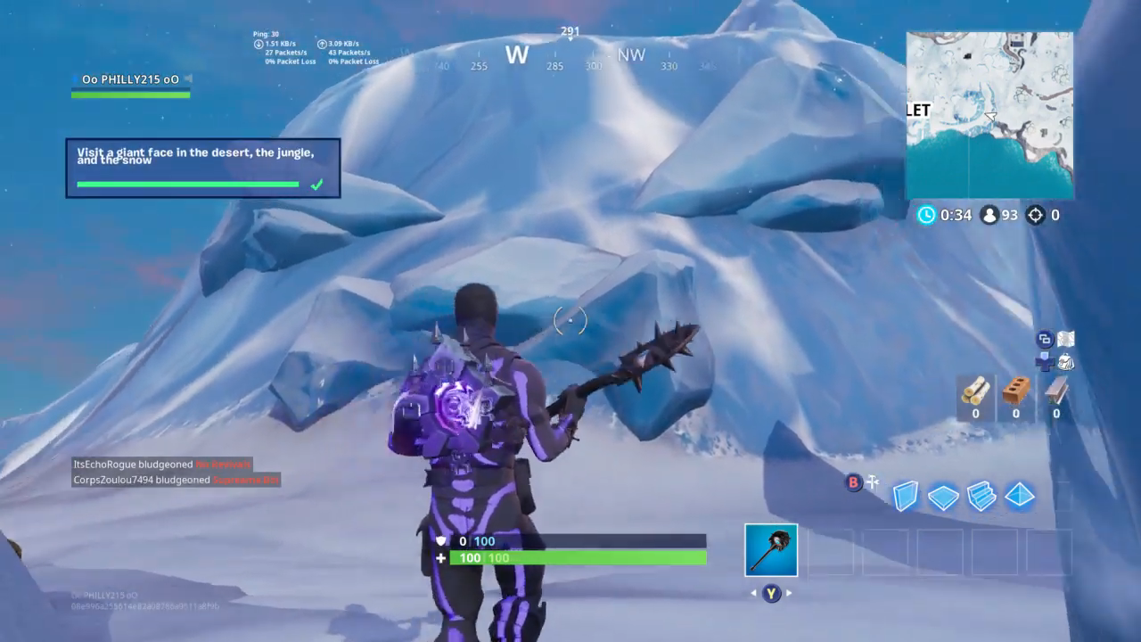 fortnite all pirate camp giant face locations week 1 challenge guide - giant face locations fortnite