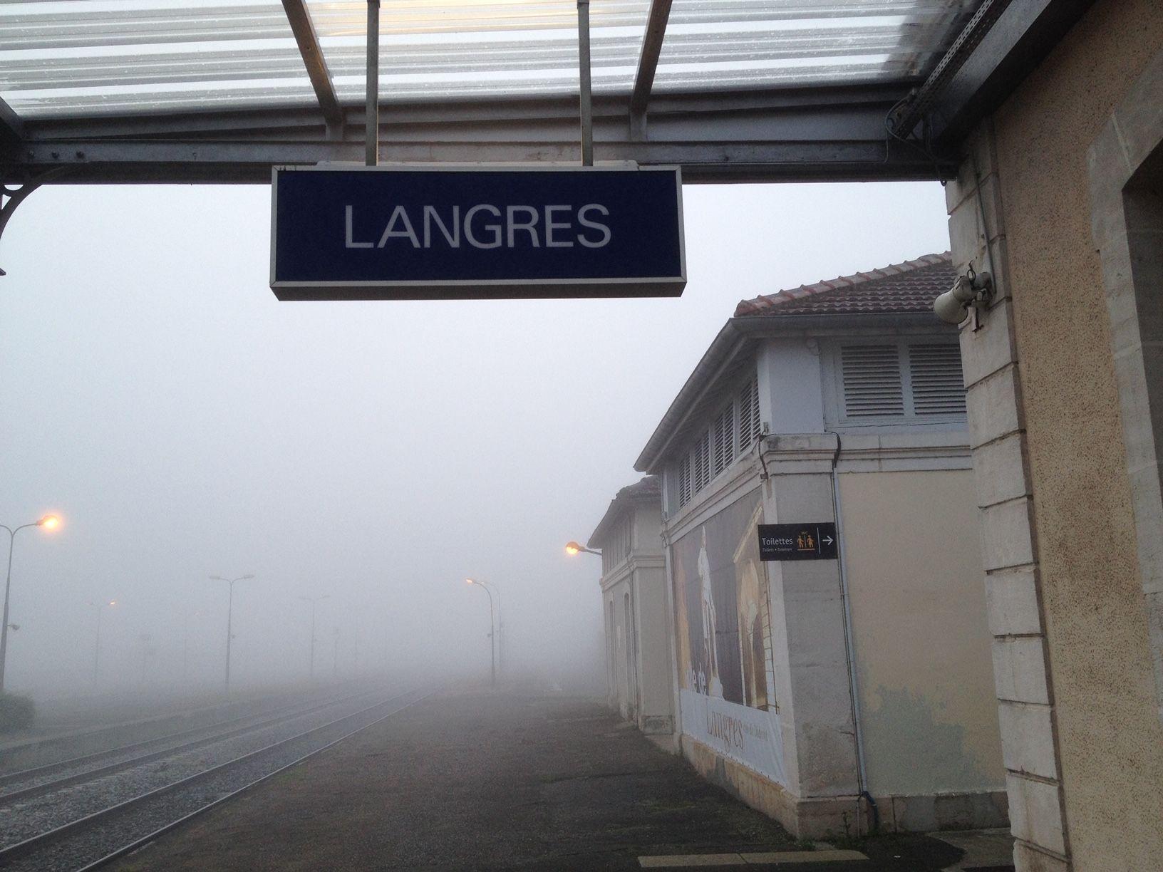 Denis Diderot's France 3 - LANGRES - Train station sign
