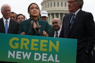Donald Trump, Alexandria Ocasio-Cortez, Green New Deal
