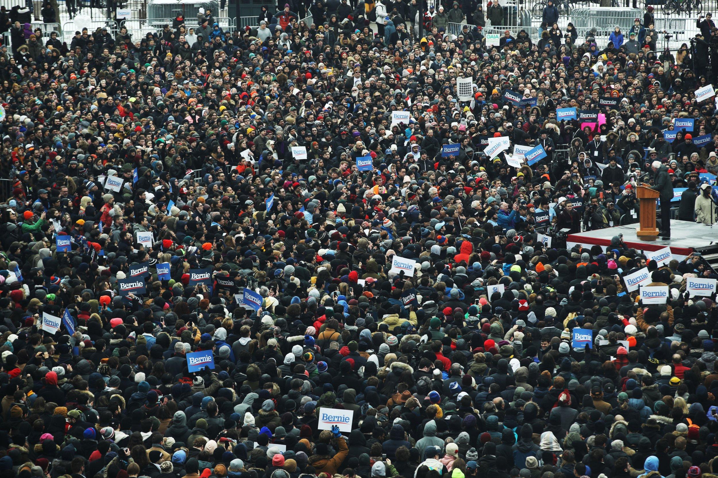 Bernie sanders brooklyn rally