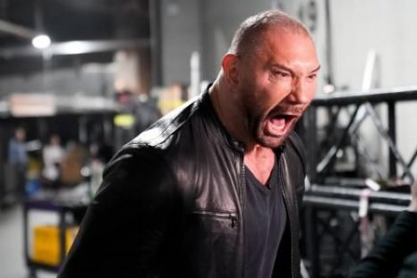 batista drags ric flair wwe monday night raw