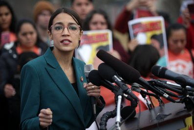 Alexandria Ocasio-Cortez racism border wall Democrats ICE