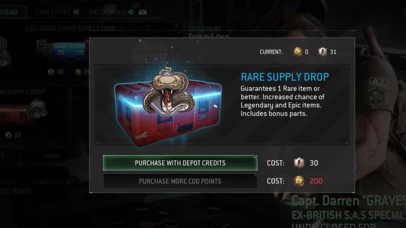 Cod MWR rare supply drop