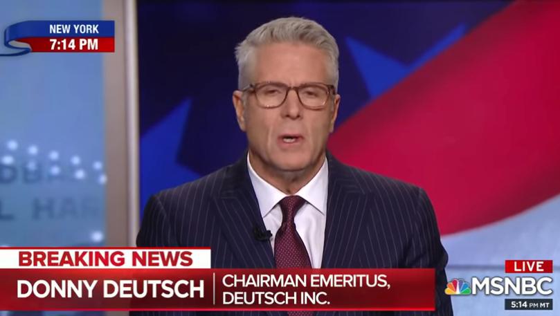 Donny Deutsch MSNBC Trump civil war