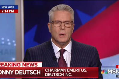 Donny Deutsch MSNBC Trump civil war