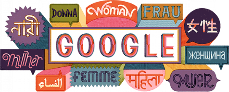 international women's day google doodle