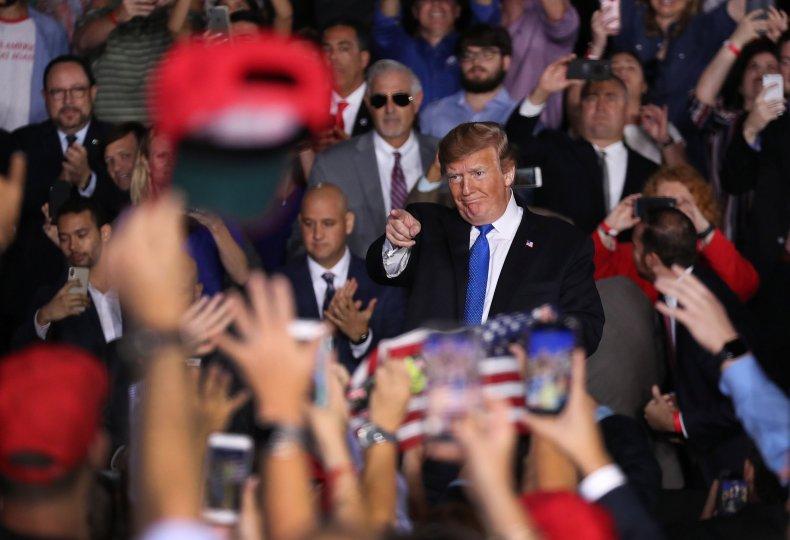 donald trump rally poll impeachment