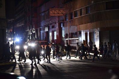 Venezuela blackout Nicolas Maduro Juan Guaido