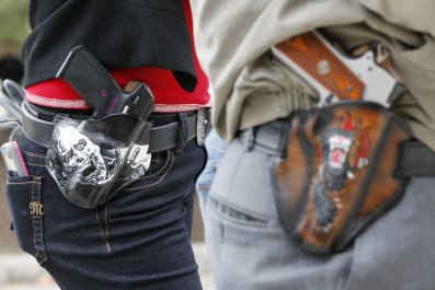 gun rights open carry Stephanie Flowers Arkansas debate