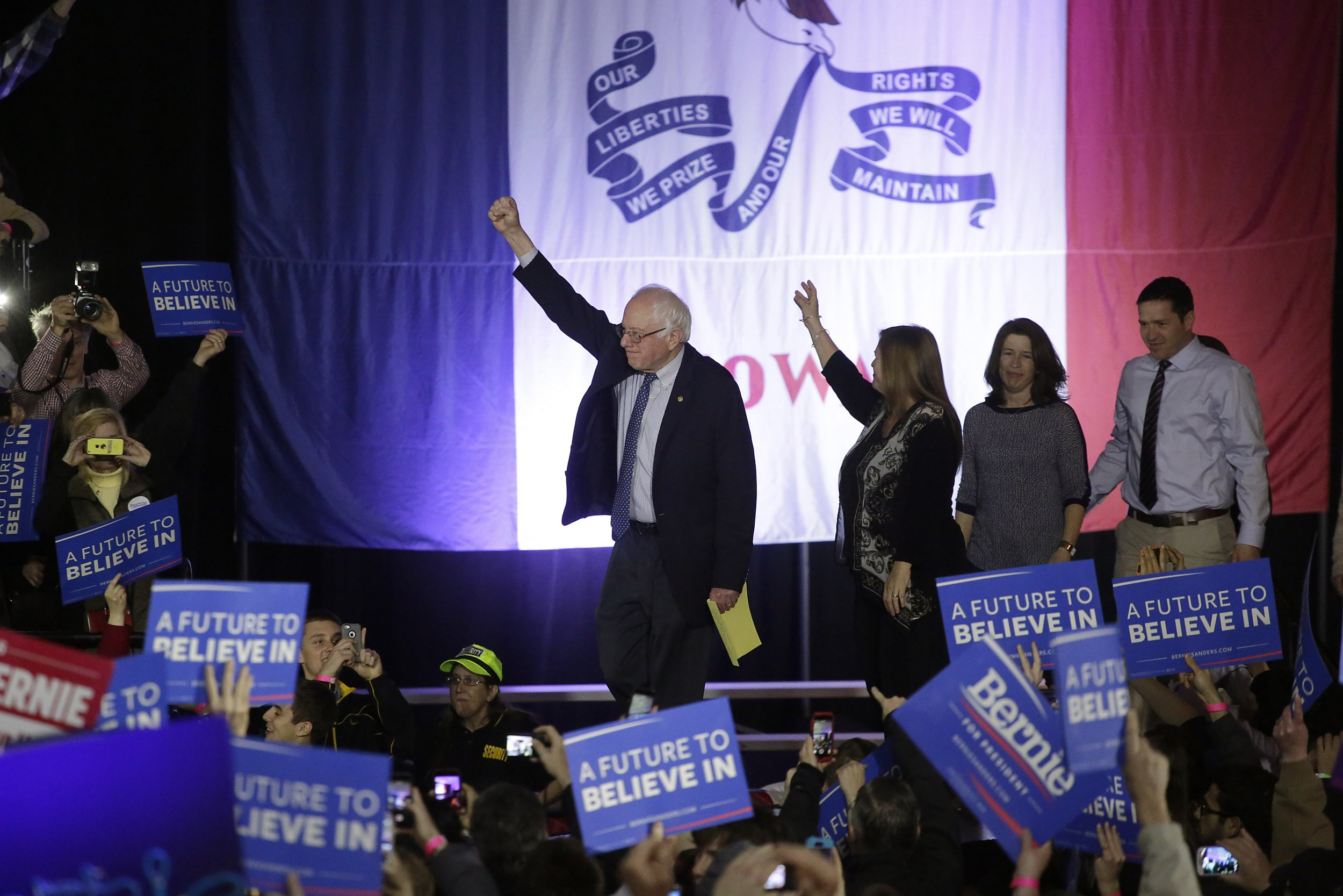 watch, bernie, sanders, iowa, city, rally, live, stream,