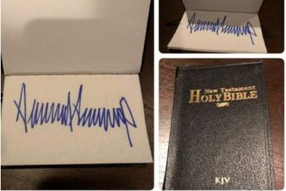 ebay trump signed bible