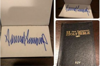 ebay trump signed bible